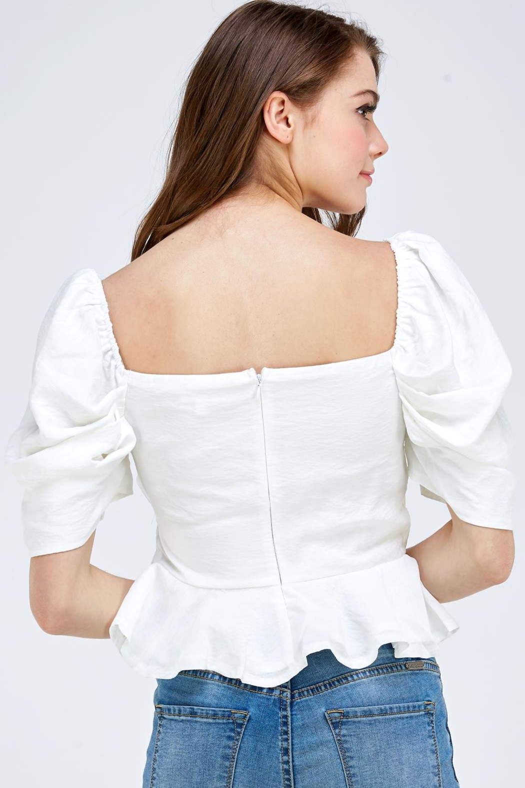 luxxel Puff Sleeve Blouse - Side Cropped Image