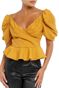 luxxel Puff Sleeve Blouse - Product List Image