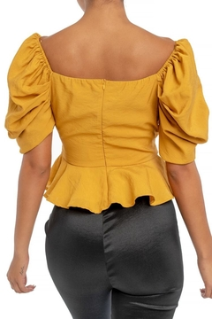 luxxel Puff Sleeve Blouse - Alternate List Image