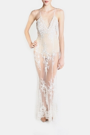 luxxel Glamour Bodysuit Lace Dress - Front cropped