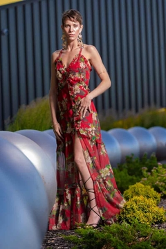 luxxel Red Floral Dress - Product List Image