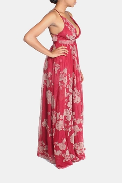 luxxel Red Floral Maxi Dress - Alternate List Image