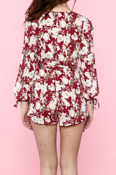 Shoptiques Product: Red Floral Romper