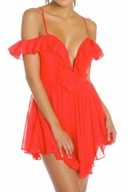 luxxel Red Ruffle Dress - Product Mini Image