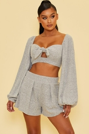 luxxel Ribbed Shorts Set - Front cropped