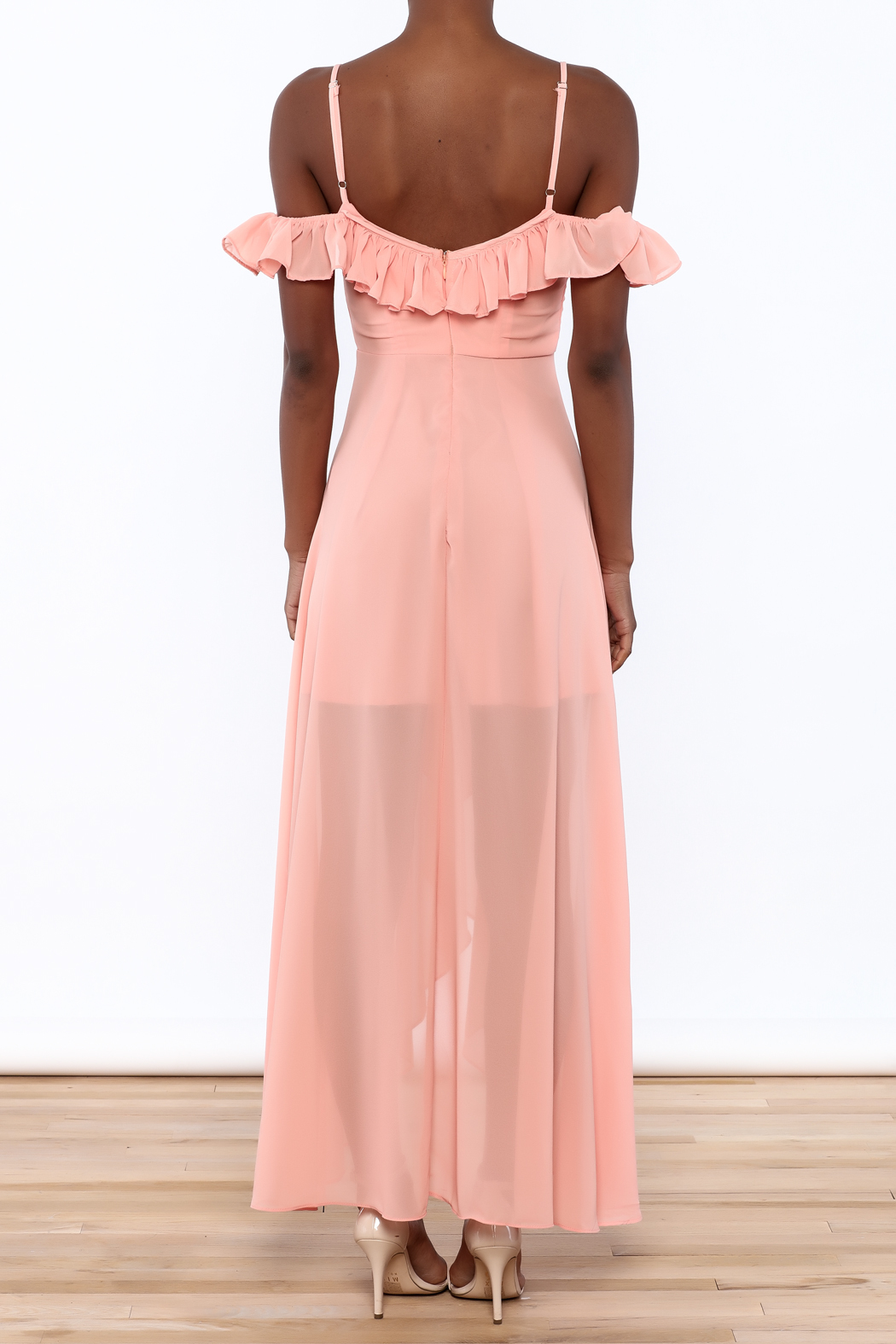 Luxxel Ruffle Maxi Dress From New York City By Dor L Dor
