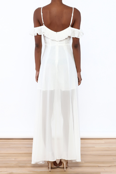 Shoptiques Product: White Ruffle Maxi Dress