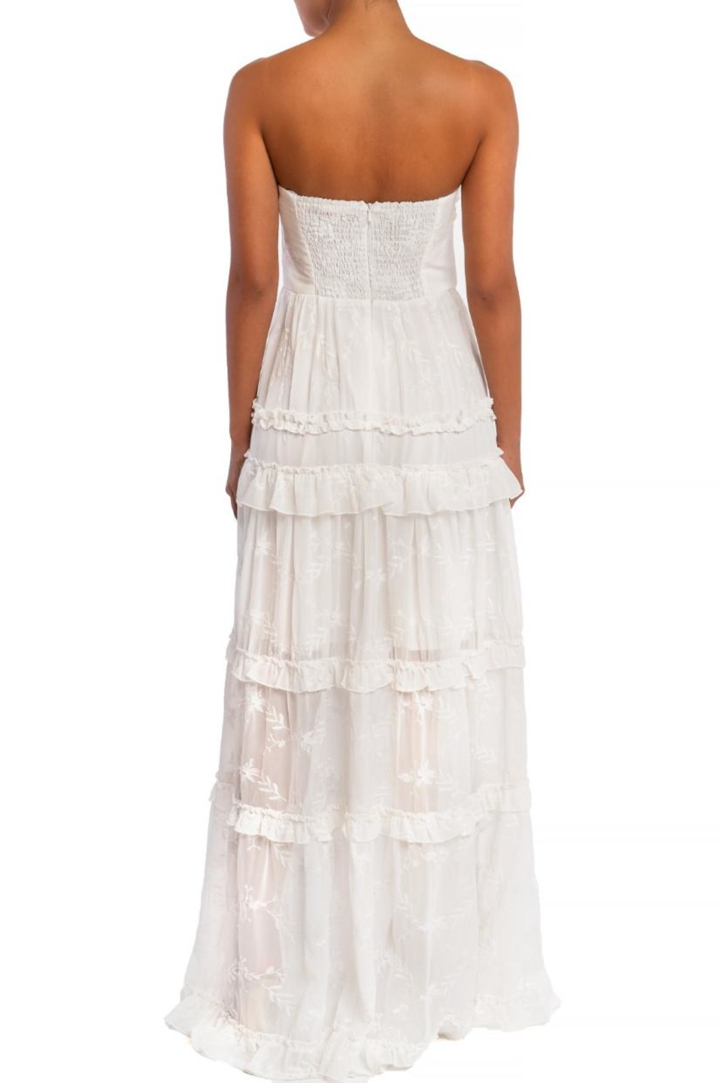 luxxel Ruffle Tiered Maxi - Front Full Image