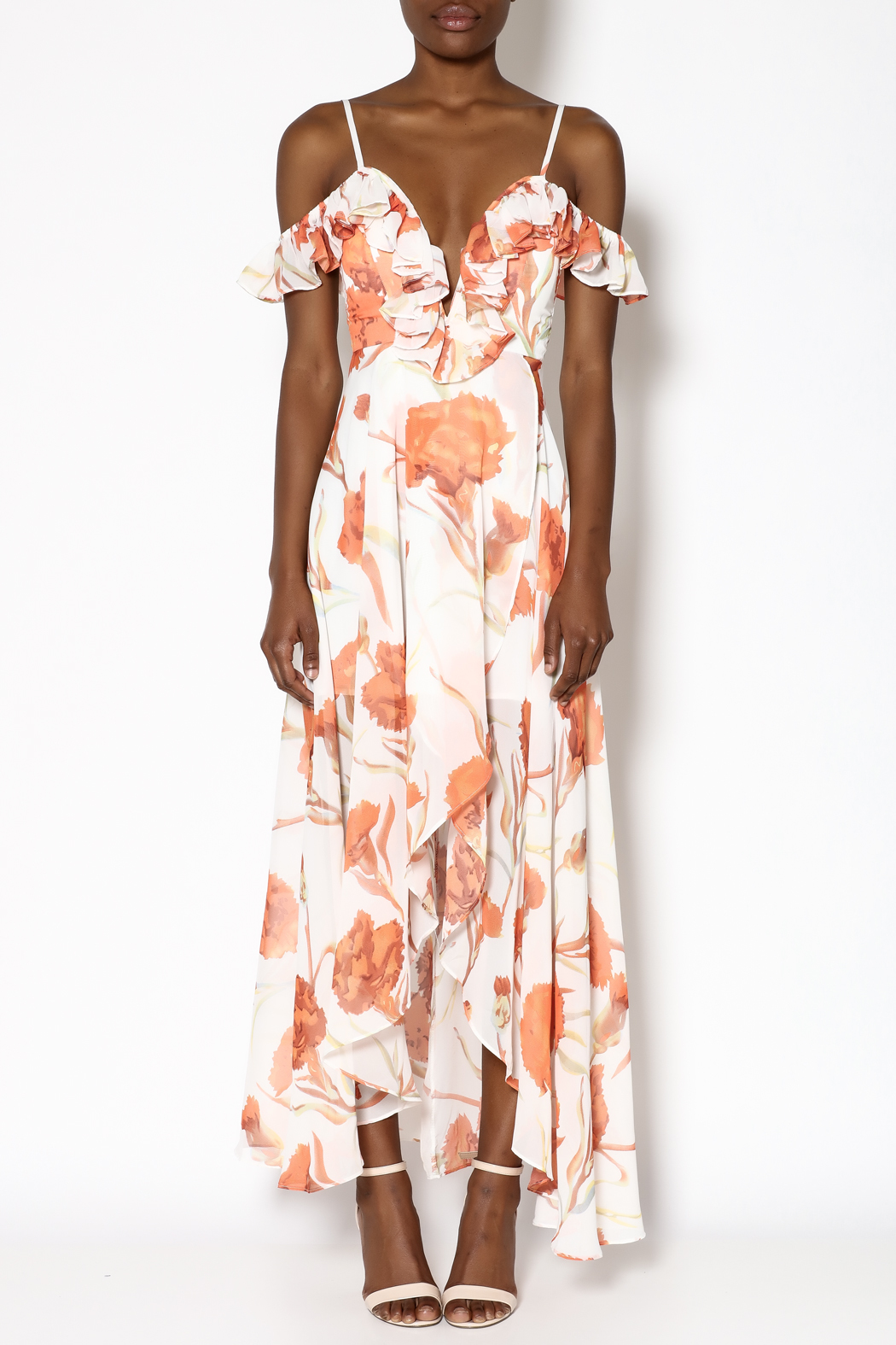 ad3ebe7d481 luxxel Orange Floral Dress from New York by Dor L Dor — Shoptiques