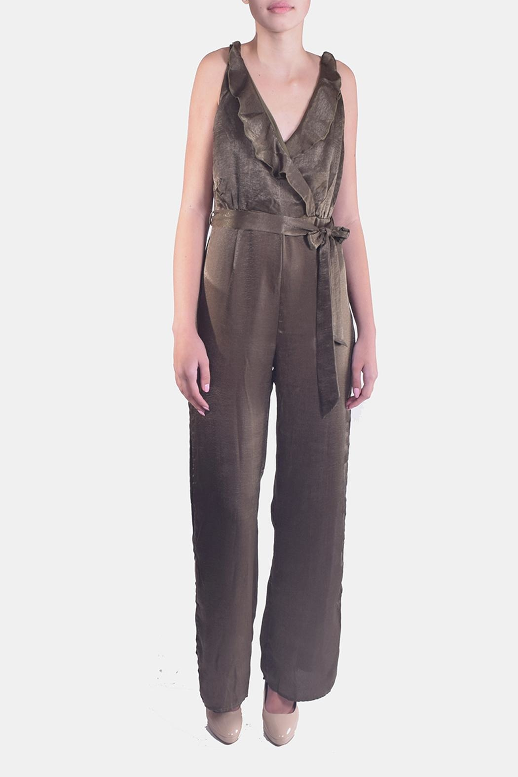 luxxel Ruffled Wrap Jumpsuit - Main Image