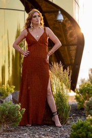 luxxel Rust Luxxel Dress - Product Mini Image