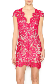 luxxel Scarlet Lace Mini Dress - Front cropped
