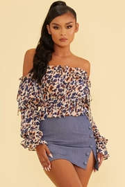 luxxel Scrunched Metallic Top - Product Mini Image