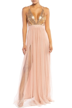 luxxel Sequin Bust Maxi - Product List Image
