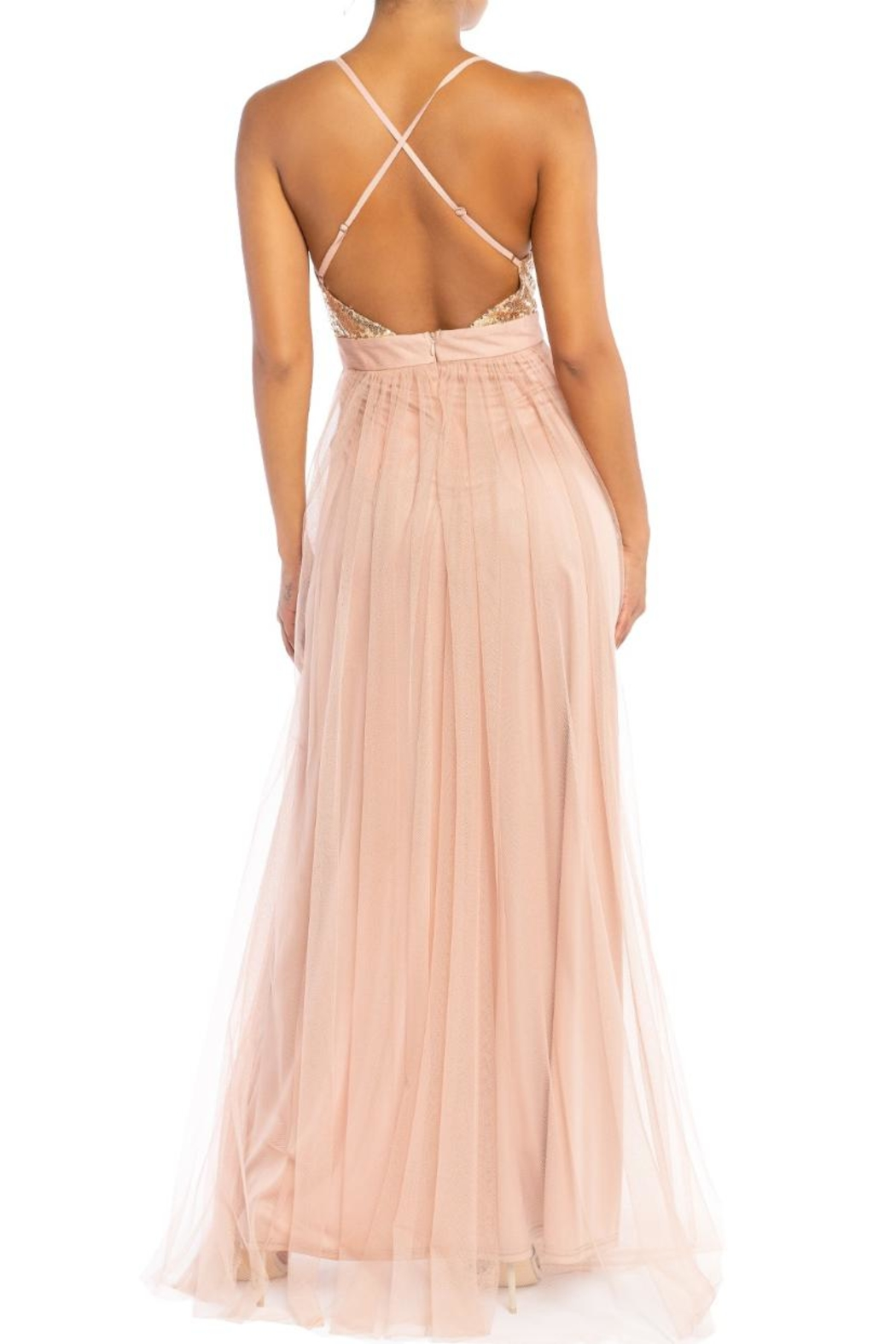 luxxel Sequin Bust Maxi - Front Full Image