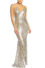luxxel Sequin Low Back Dress - Product Mini Image