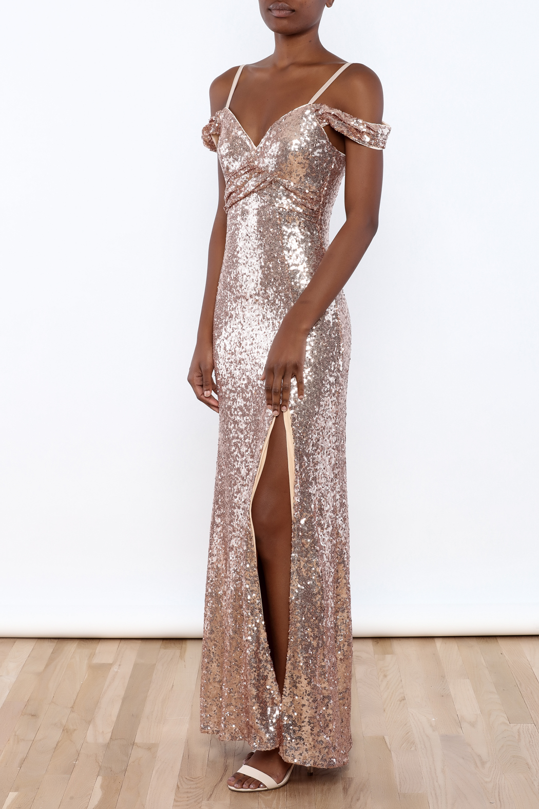 Luxxel Sequin Off Shoulder Dress From Florida By Walter