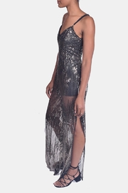 luxxel Sequined Jumpsuit - Front full body