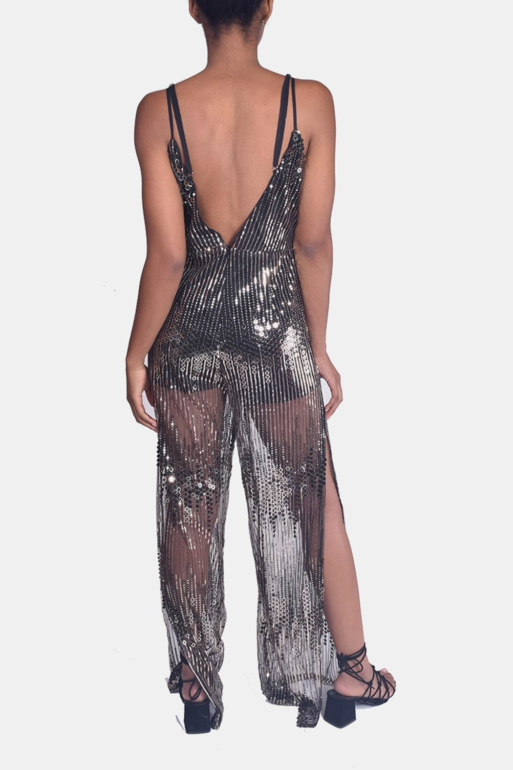 luxxel Sequined Jumpsuit - Back Cropped Image