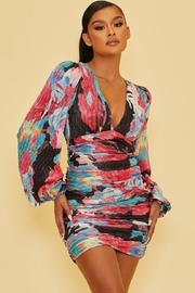 luxxel Shimmer Ruched Dress - Product Mini Image