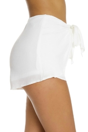 luxxel White Crinkle Shorts - Front full body