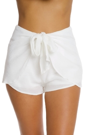 luxxel White Crinkle Shorts - Product Mini Image