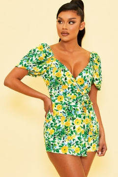 luxxel Side Tie Romper - Product List Image