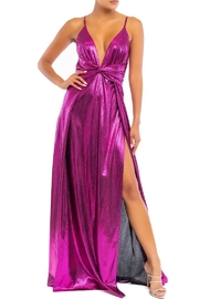 luxxel Sleema Dress In Metallic Magenta - Product Mini Image