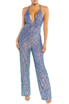 Shoptiques Product: Sleeveless Sequin Jumpsuit