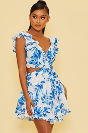 luxxel Spring Leaves Dress - Product Mini Image