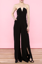 Shoptiques Product: Split Bust Strapless Jumpsuit - Front cropped