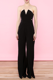 luxxel Split Bust Strapless Jumpsuit - Front full body