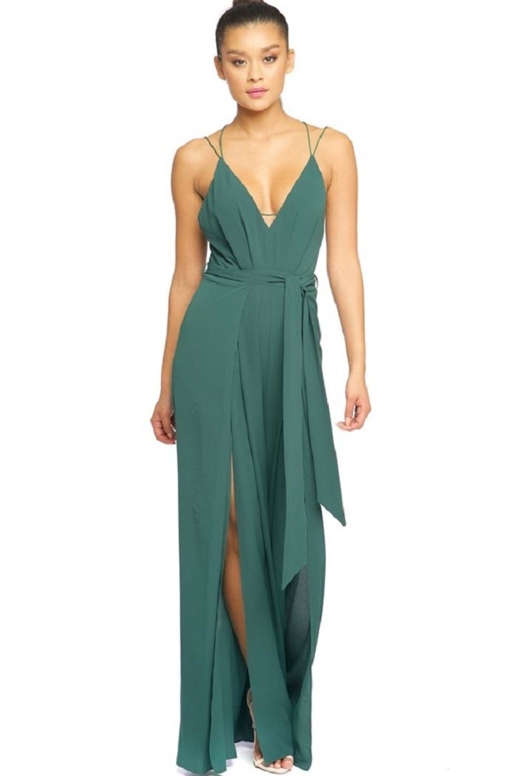luxxel Strappy Jumpsuit - Front Cropped Image