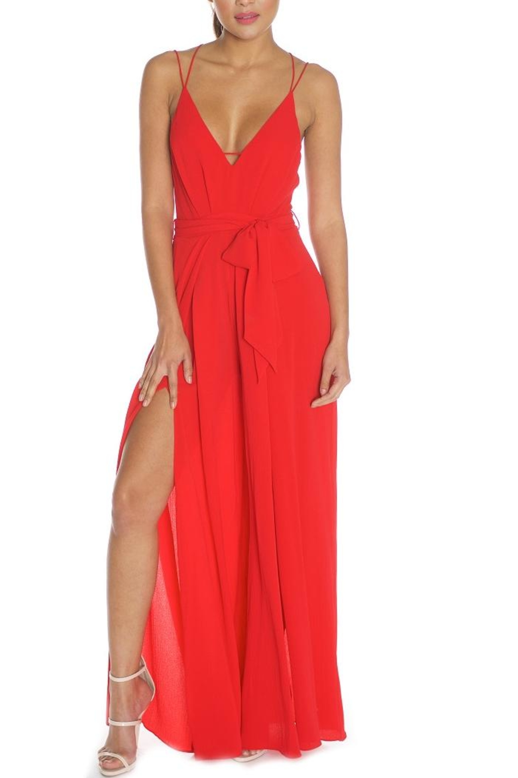 luxxel Strappy Jumpsuit - Main Image