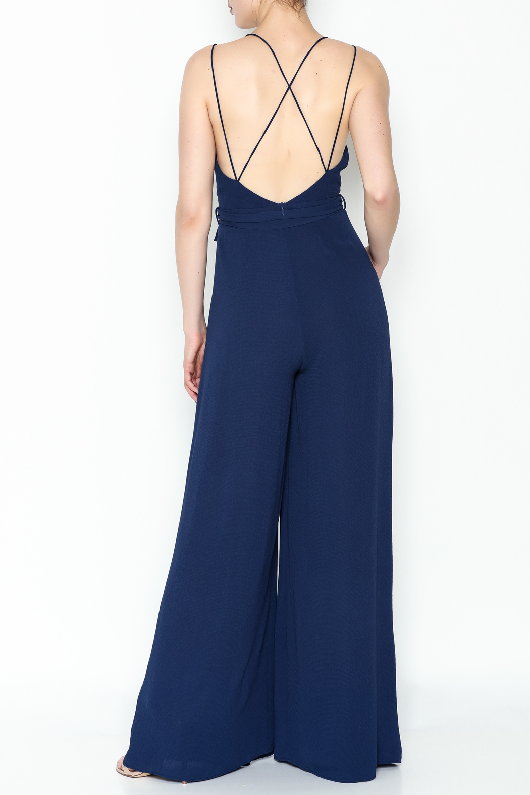 luxxel Strappy Jumpsuit - Back Cropped Image