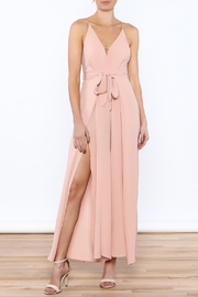 luxxel Blush Sleeveless Jumpsuit - Product Mini Image