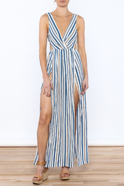 luxxel Blue Stripe Maxi Dress - Product Mini Image