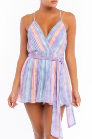 luxxel Striped Spaghetti Strap Romper - Product Mini Image