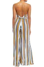luxxel Striped Split Jumpsuit - Front full body