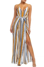 luxxel Striped Split Jumpsuit - Product Mini Image