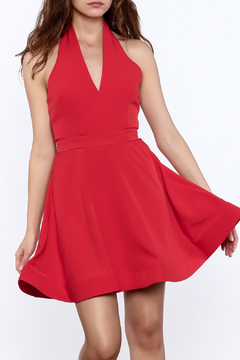 Shoptiques Product: Bold Red Sleeveless Dress