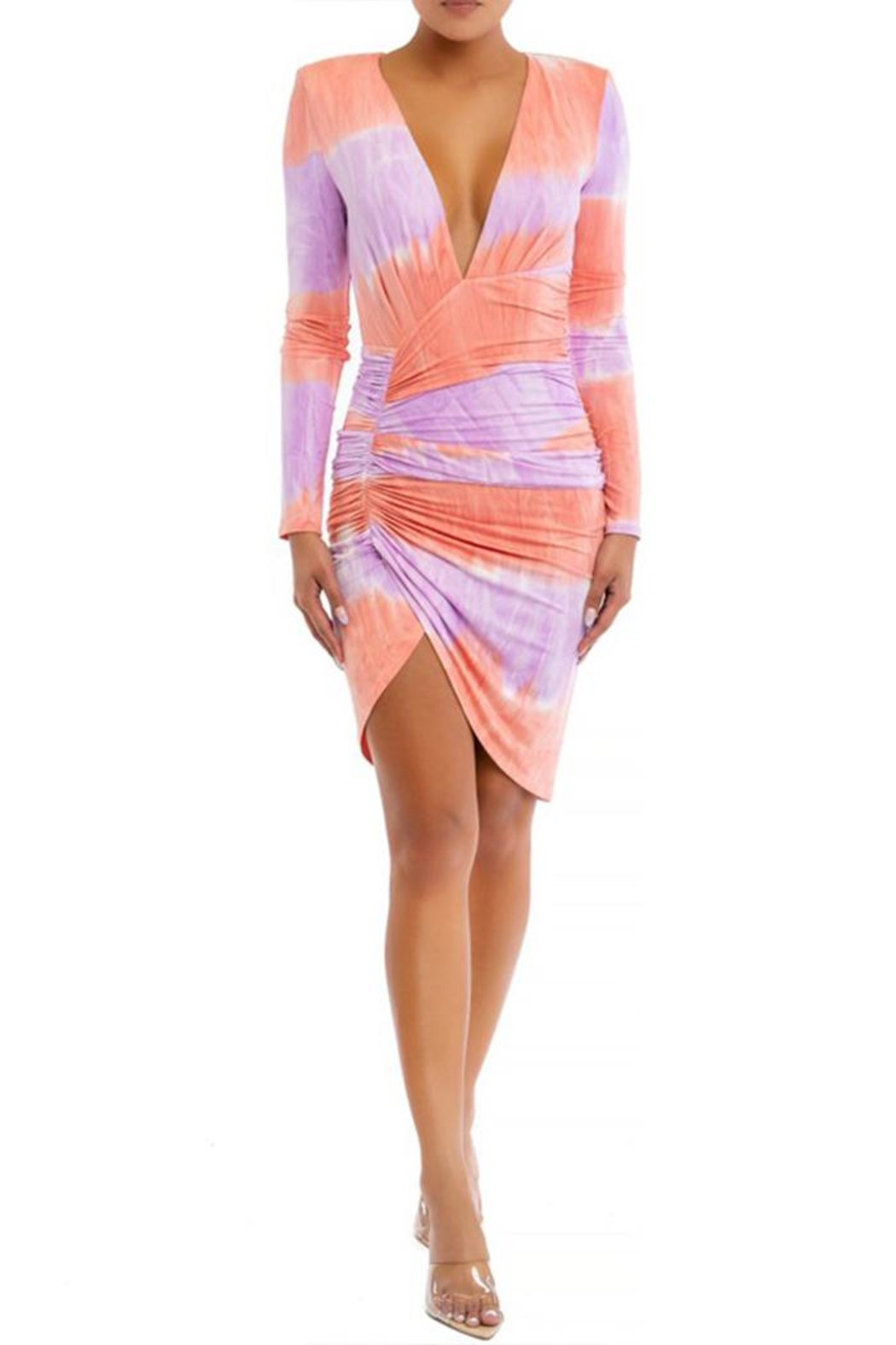 luxxel Tie Dye Mini-Dress - Front Cropped Image
