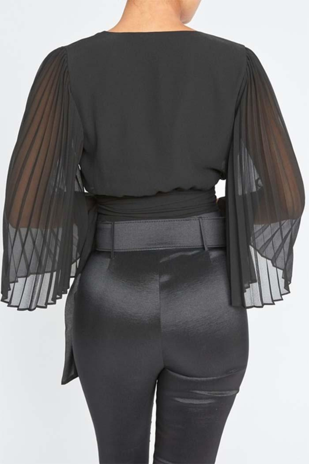 luxxel Tie Front Blouse - Front Full Image