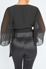 luxxel Tie Front Blouse - Front full body