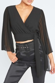luxxel Tie Front Blouse - Product Mini Image