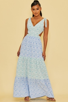 luxxel Tiered Floral Maxi - Product List Image