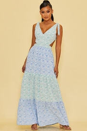 luxxel Tiered Floral Maxi - Product Mini Image