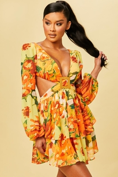 luxxel Tropical Cut-Out Dress - Product List Image