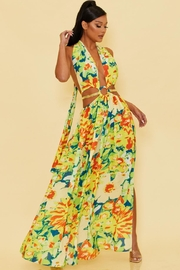luxxel Tropical Halter Maxi - Front cropped