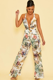 luxxel Tropical Jumpsuit - Front cropped